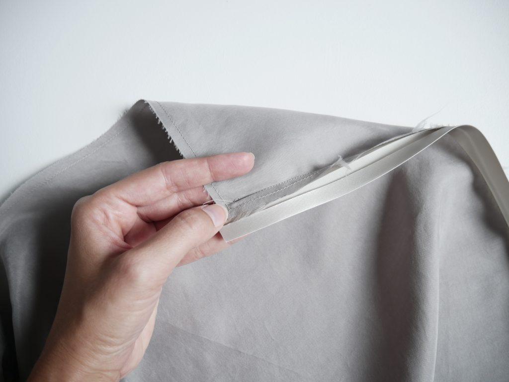 Versäumen mit Schrägband. Anleitung Tutorial