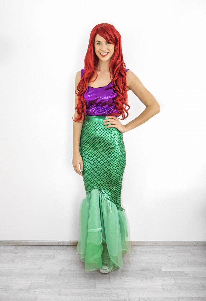 Meerjungfraukostüm nähen - Arielle Kostüm nähen
