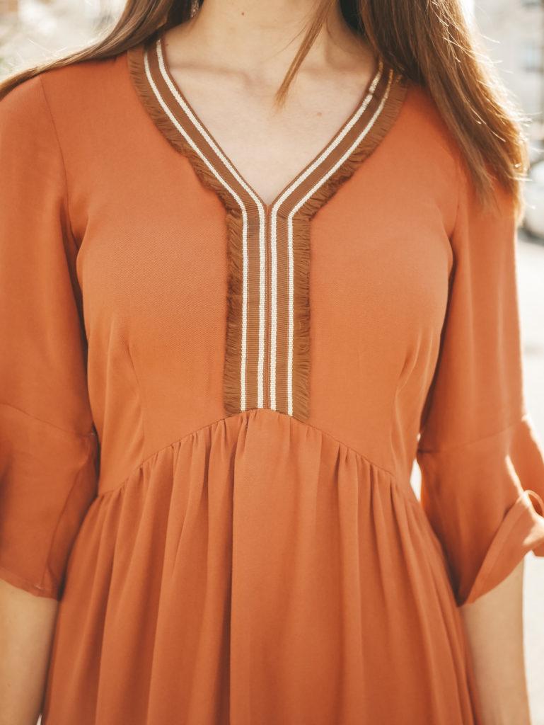Boho-Kleid Valentina Detailaufnahme Blende