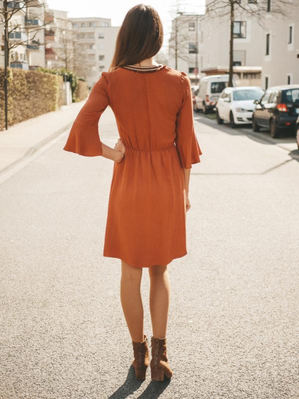 Boho-Kleid Valentina Rückenansicht