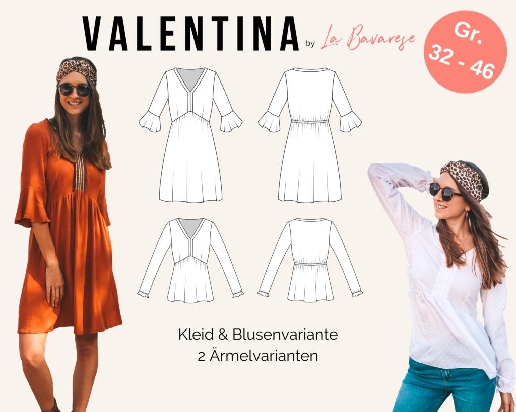 Schnittmuster Boho Kleid Valentina La Bavarese