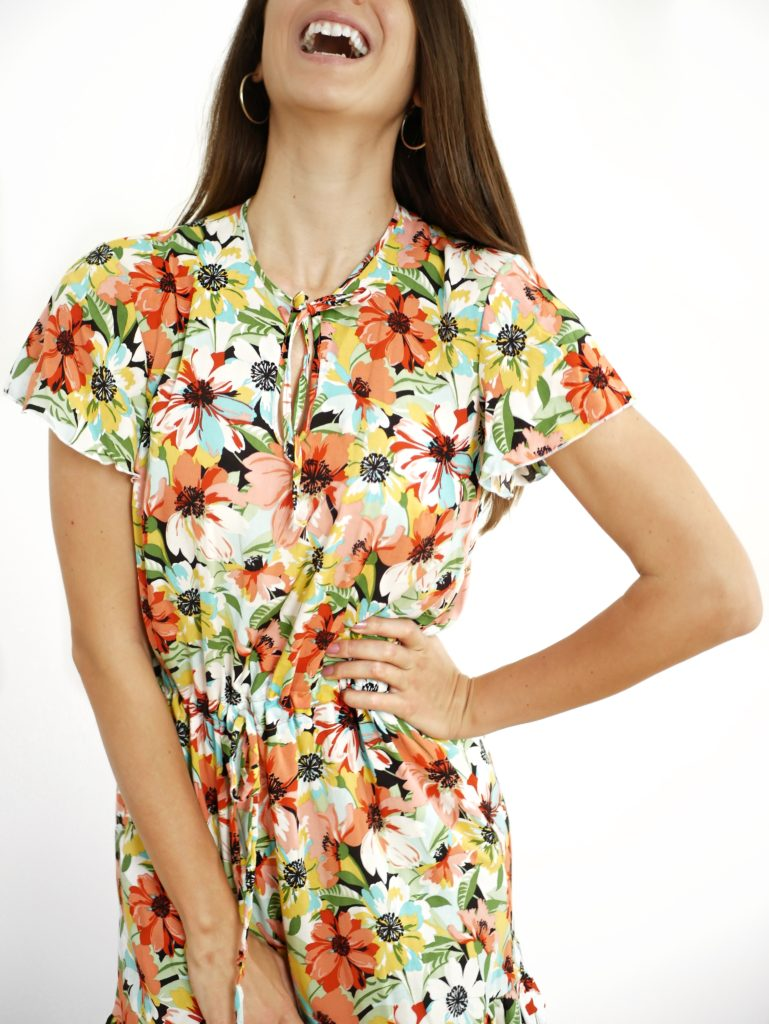 Schnittmuster Sommerkleid Damen Tropfenausschnitt