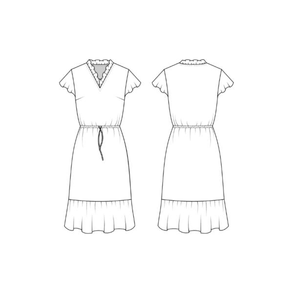 Technische Zeichnung Schnittmuster Kleid Chiara