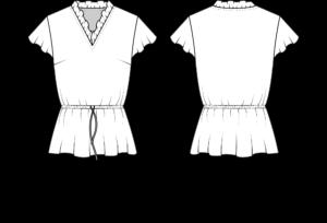 Schnittmuster CHIARA technische Zeichnung La Bavarese