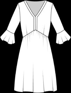 Schnittmuster Kleid Valentina technische Zeichnung