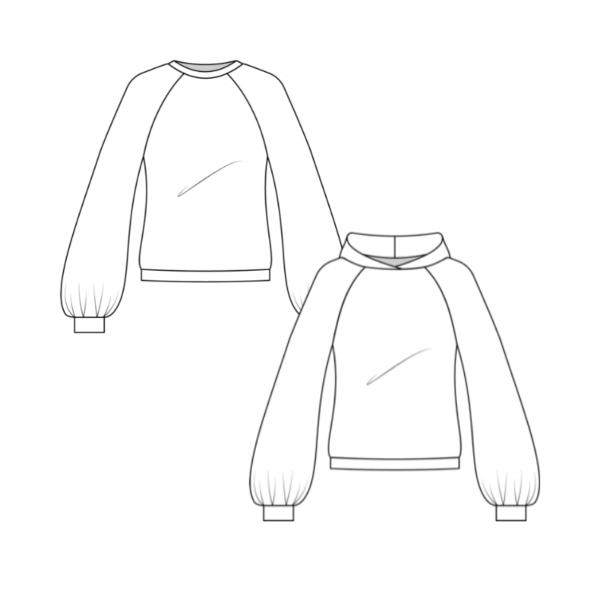 Technische Zeichnung Hoodie La Bavarese