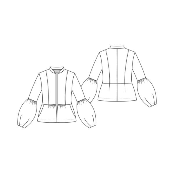 Technische Zeichnung Boho Jacket La Bavarese
