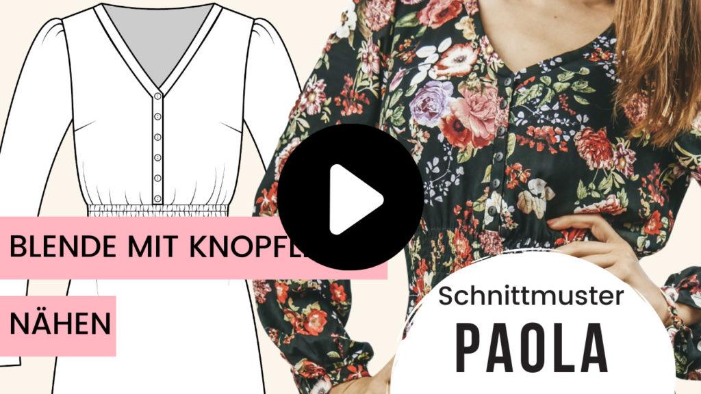 Schnittmuster Boho Kleid Paola Blende nähen