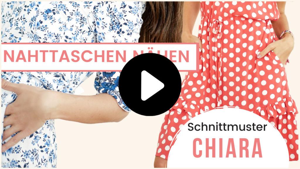 Nahttaschen nähen Anleitung Schnittmuster Chiara