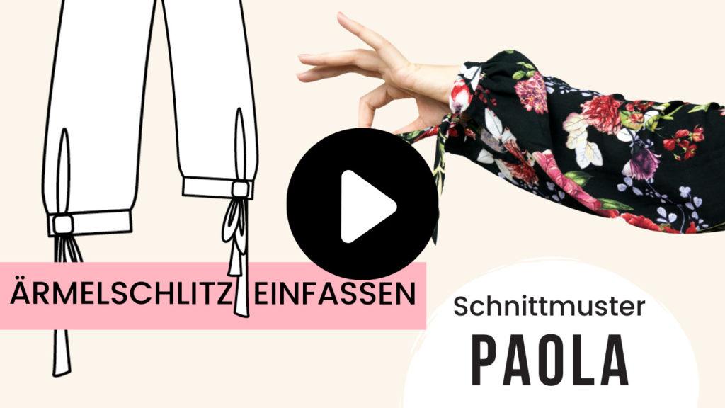 Ärmelschlitz einfassen Schnittmuster Boho Kleid Paola