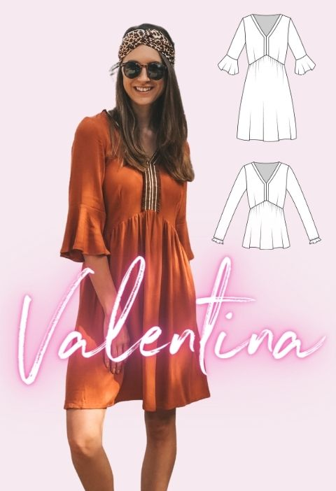 Boho Kleid Damen Valentina Schnittmuster La Bavarese