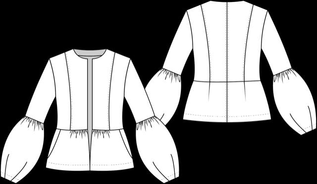Schnittmuster Boho Jacke nähen technische Zeichnung La Bavarese