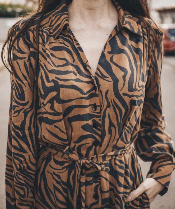 Detailfoto Hemdblusenkleid Schnittmuster Damen Olivia