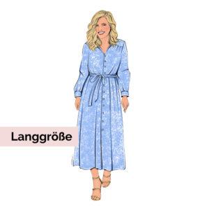 Schnittmuster Hemdblusenkleid Olivia Langgröße