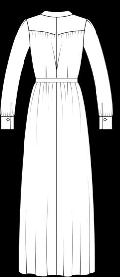 Technische Zeichnung Olivia Maxivariante hinten
