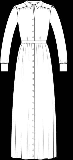 Technische Zeichnung Olivia Maxivariante vorne