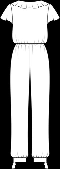 technische Zeichnung Schnittmuster Jumpsuit Penelope