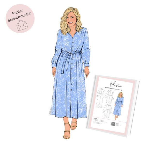 Papierschnittmuster Hemdblusenkleid Olivia La Bavarese